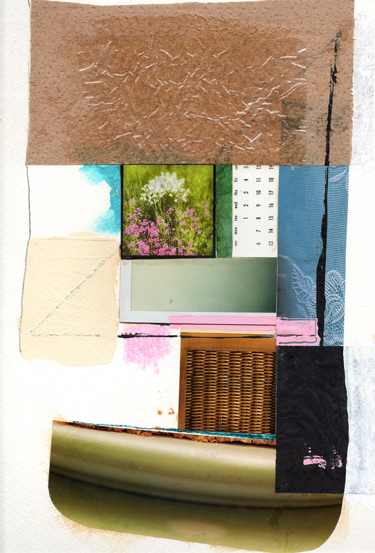 © Libby Saylor, Lost Collage 2, mixed media on paper, 11″ x 15″ 2012-13, by Libby Saylor, The Goddess AttainablePicture