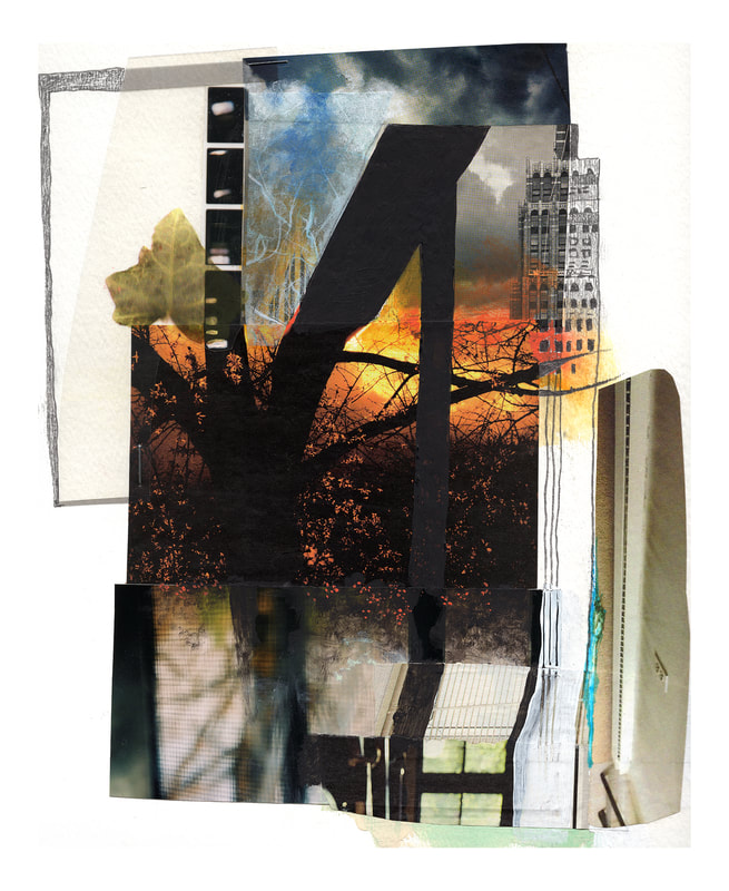 © Libby Saylor, Lost Collage 8, mixed media on paper, 11″ x 15″ 2012-13, by Libby Saylor, The Goddess Attainable